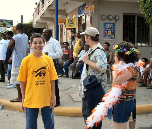 David at Carnaval Laceiba, Honduras, 2003