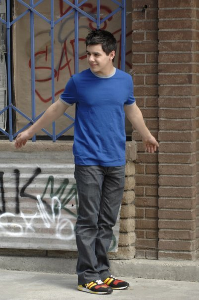 David Archuleta stretches arms