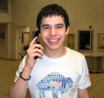 David Archuleta talks on cell phone
