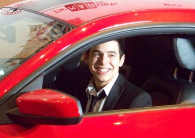 David Archuleta in Shelby car