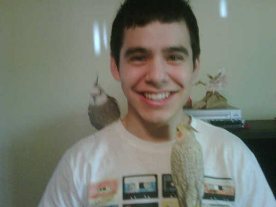 David with 2 birds