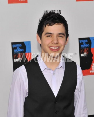 David Archuleta at Somos el Mundo recording, Miami, 19 Feb 2010