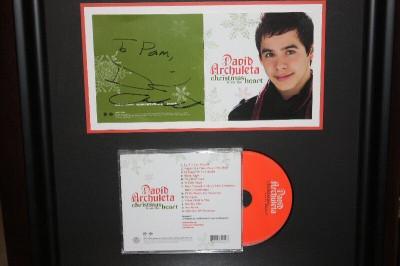 David Archuleta Autograph on Christmas CD