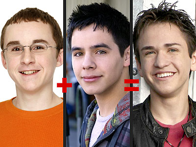 People Magazine photo of Kevin Covias, David Archuleta, and Aaron Kelly