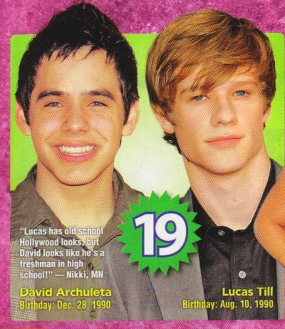 David on cover of j14 Magazine