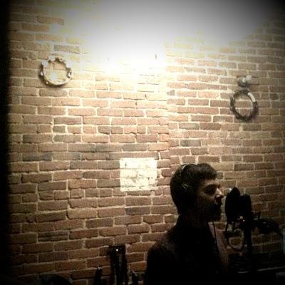 David Archuleta singing in the studio