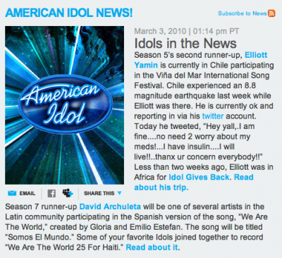 American Idols in the News
