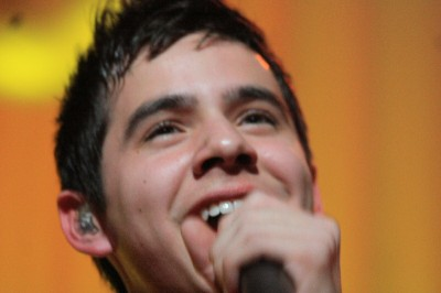 close-up of David Archuleta at Christmas 2009 concert, Utah