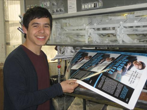 David Archuleta with first print of book cover, April 2010