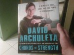 David Archuleta's first copy of his book, Chords of Strength, 30 April 2010