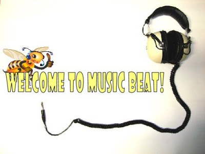 Music Beat banner headphones graphic