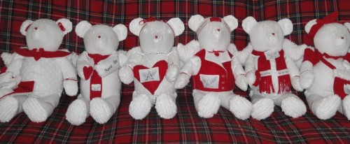 Angel Bear Group of 6 white bears