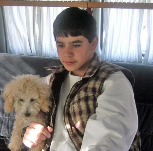 David Archuleta with his furry friend