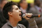 David Archuleta singing National Anthem, May 9, 2008, Salt Lake City