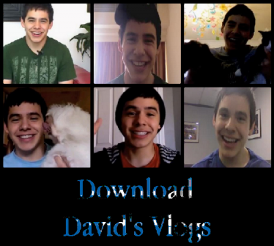 Composite of 6 David Archuleta vlog screen captures