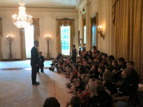 President Obama addresses CMN children and David Archuleta, 9 June 2010