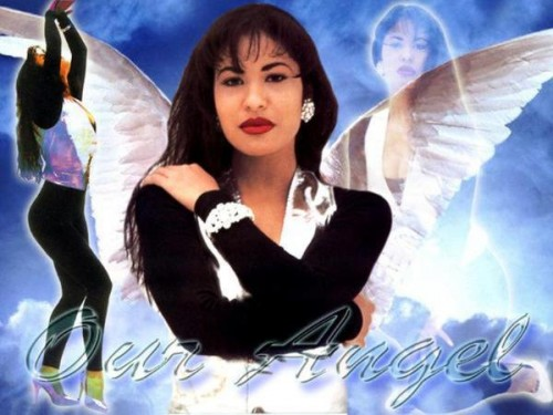 Composite photo of Selena with Angel Wings