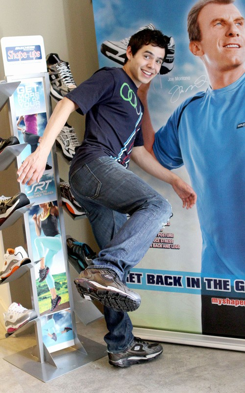 David Archuleta sports Shape-ups at Gift Services Showroom, LA, 3 August 2010