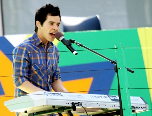 David Archuleta performs at U.S. Tennis Open's Arthur Ashe Kids Day, 28 August 2010