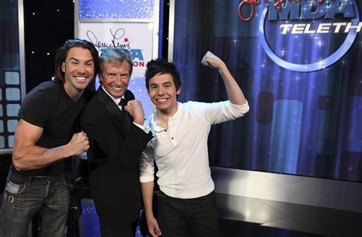 Ace Young, Nigel Lythgoe, and David Archuleta Show Strong Support for MDA Telethon, 5 Sept 2010