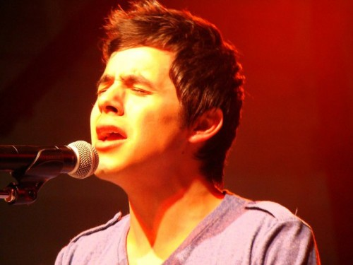 "David Archuleta sings ""Crush"" at the Delta Music Fest, Memphis. 12 Sept 2010. Photo: Becca"