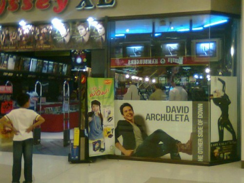 Giant poster of David Archuleta album, TOSOD. Photo: InahArch