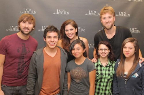 Lady Antebellum with David Archuleta and his sisters, 2 November 2010, Salt Lake City. Photo: Richard