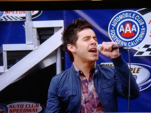 David Archuleta sings National Anthem at Nascar in California