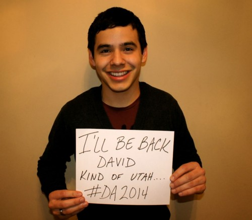 David Archuleta with home-made sign